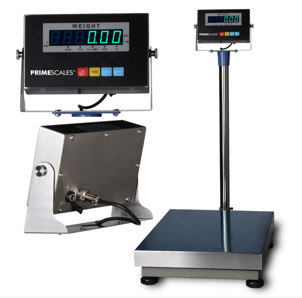 "PS-Z-TCS 12""x16' 600lbx0.02 Bench Scale with Stainless Steel Indicator & Platter"