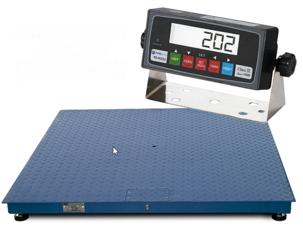 """Prime Scales 4'x 5' (48""""x 60"""") 10000 x 1 lb Platform Pallet Floor Scale with IN202 Indicator Free Shipping"""