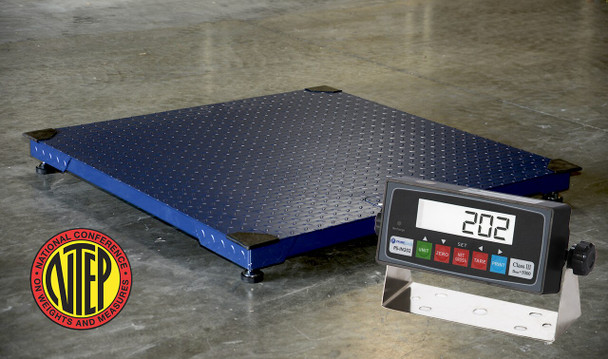 CS2010 NTEP Certified Legal for trade 3x3 2500LB/0.5LB Floor / Pallet Scale