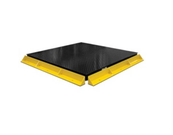 "PS-BG 4' (48"") Long Painted Steel Pallet Floor Scale Bumper Guard"