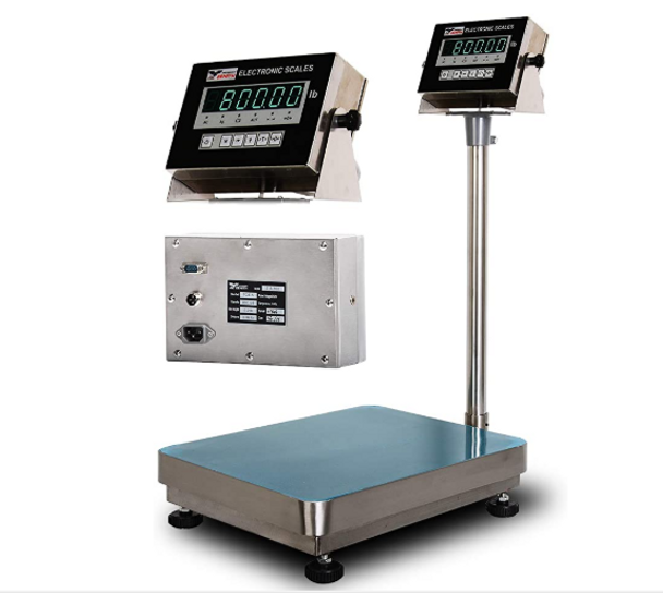 """Z-B800 Bench Scale with Stainless Steel Indicator & Platter (16"""" x 20""""/ 800×0.5lb)"""