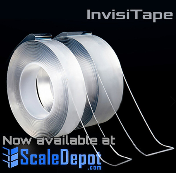 NEW InvisiTape Multi-Functional Reusable Double-Sided Tape, Instantly Locks Anything into Place Without Screws, Anchors or Adhesive! As Seen on TV (150 Meter Roll)