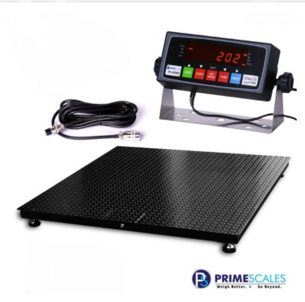 """Prime Scales USA MADE 60"""" x 96"""" (5'x8') Heavy duty Pallet Floor Scale   livestock Scale"""