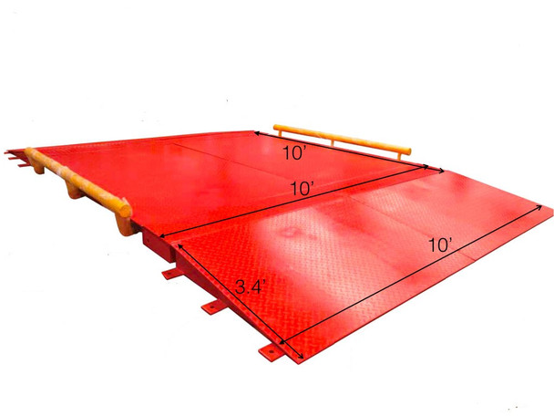 """Prime Scales USA Made 120"""" x 120"""" (10'x10') Heavy duty Axle Cargo Scale 
