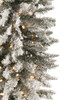 6' Flocked Potted Prelit Artificial Christmas Tree