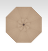 Treasure Garden 9' Collar Tilt in Sunbrella in Heather Beige  -Single Wind Vent-Black Finish