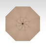 Treasure Garden Starlight 9' Collar Tilt in Sunbrella in Heather Beige  -Single Wind Vent-Black Finish