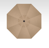 Treasure Garden Starlight 9' Collar Tilt in Sunbrella in Sesame Linen -Single Wind Vent-Black Finish
