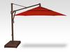 Treasure Garden Quick Ship 11' Octagon Cantilever In Sunbrella Jockey Red-Double Wind Vent w/Bronze Finish