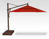 Treasure Garden Quick Ship 13' Octagon Cantilever In Sunbrella Jockey Red-Double Wind Vent w/Bronze Finish