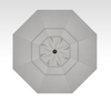 Treasure Garden Quick Ship 13' Octagon Cantilever In Sunbrella Cast Silver-Double Wind Vent w/Black Finish