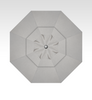 Treasure Garden 11' Auto Tilt -Quick Ship- in Sunbrella Cast Silver-Double Wind Vent - BlackFinish
