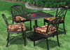 Gensun Terrace Outdoor Cafe Chair with Arms-Knock Down