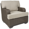 Brookstone Outdoor Club Chair w/ Cushion Set of 2