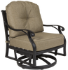 Castle Rock Outdoor Swivel Glider w/ Cushion Set of 2