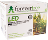 Forever Tree 1500 LED Compact White Lights with Black Wire