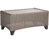 Lane Venture Requisite Outdoor Rectangular Cocktail Table with Glass