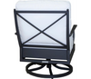 Lane Venture Winterthur Estate Swivel Rocker Lounge Chair X Back