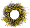 "Arty 24"" Forsythia Wreath on Natural Twig Base"