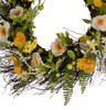 "Arty 24"" White and Yellow Poppy Wreath"