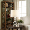 "Crestview 27.75"" Glass Ball and Metal Lamp"