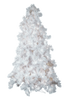 12' Glacier Long Needle White Pine Artificial Christmas Tree with AlwaysLit Technology