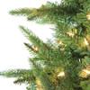 7.5' Prelit Salem Spruce  Artificial Christmas Tree with Power Pole