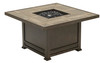 """Clayton 44"""" Square Fire Pit with Porcelain Top"""