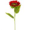 "Sunflower Stem Red 26"" Set of 6"