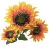 """Sunflower Stem X 3 Orange 26.5"""" Set of 6"""