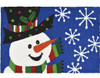"Jellybean Rug Snowman with Polka Dot Hat 21"" x 33"""