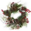 Twig Ball Artificial Berry Wreath 24""