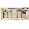 Flameless LED Candles with Remote 5 PC Set Ivory