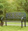 Hummingbird Metal Garden Bench Black