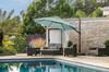 Treasure Garden 11.5' AG25T Octagon Cantilever Umbrella with AKZ Base