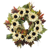 Sunflower Wreath Cream 24""
