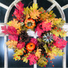 "Pumpkin Pinecone Wreath 24"""