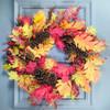 "Oak Leaf Pine Cone Wreath 24"""