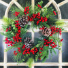 Pine Cone Berry Artificial Wreath 24""
