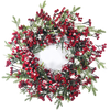 Snowed Berry Wreath 24""