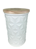 Swan Creek White Collection Round Canister Citrus & Sage
