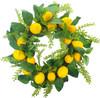 "Lemon Mix Foliage Artificial Wreath 24"" Round"