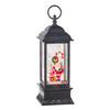 """Raz Imports Santa and Candy Cane Musical Lighted Water Lantern 11"""""""