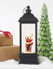 "Raz Imports 11"" Santa Sitting on Chimney Lighted Water Lantern"