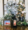 """Prelit Potted Artificial Frosted Bald Cypress 36"""" Decorated"""