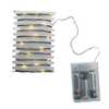 13' Green Wire 40 Micro LED Lights w Water Resistant Battery Box and Timer