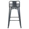 Metropolis Low Back Bar Stool, Vintage Mist Gray