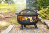 Bear Camp Fire Pit With Domed Spark Guard