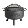 Pine Cone Wood Burning Fire Pit - Black