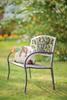 Blooming Garden Metal Outdoor Bench
